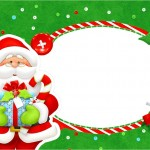 Imágenes y tarjetitas imprimibles para Navidad con Papa Noél