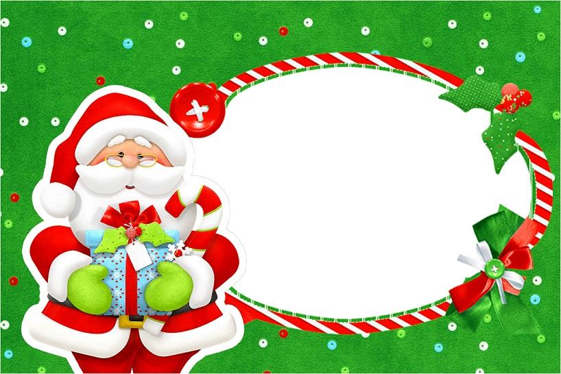 Tarjetas Imagenes Marcos para Fotos Navidad Papa Noel