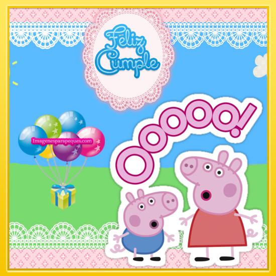 Imágenes Feliz Cumpleaños con peppa Pig
