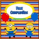 Imágenes de los Minions para cumpleaños