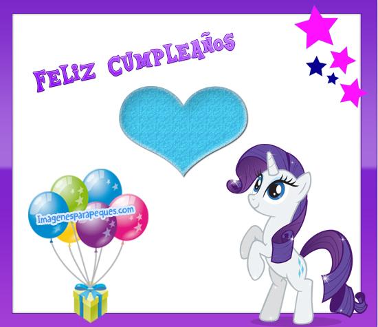 imagenes de my little pony Feliz Cumpleaños
