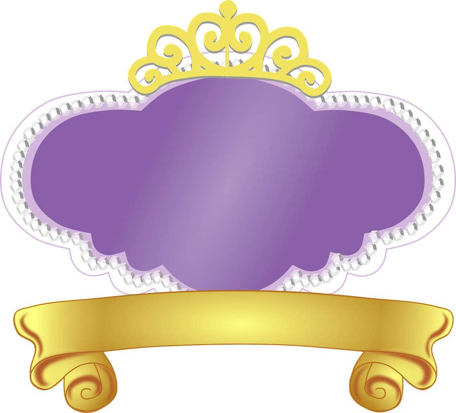 Logo princesa sofia para colocar nombre im genes para peques for Sofia the first crown template