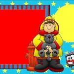 Imágenes y marcos infantiles de bombero