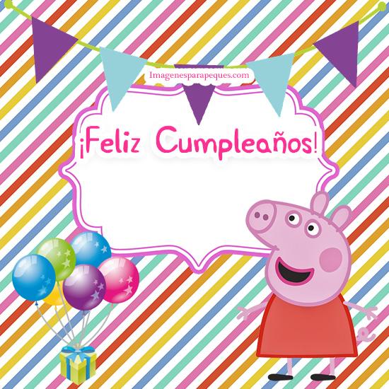 Imagenes De Feliz Cumpleanos Con Peppa Pig Y Su Familia Imagenes