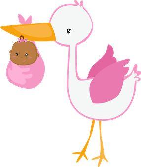 Imagenes para Nacimiento niñas - Imagenes de Baby Shower niñas - Imagenes de cigueña niña