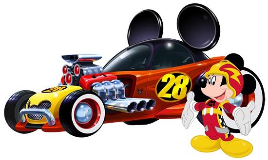Auto-de-Mickey-de-Carreras-Mickey-corredor-automovil
