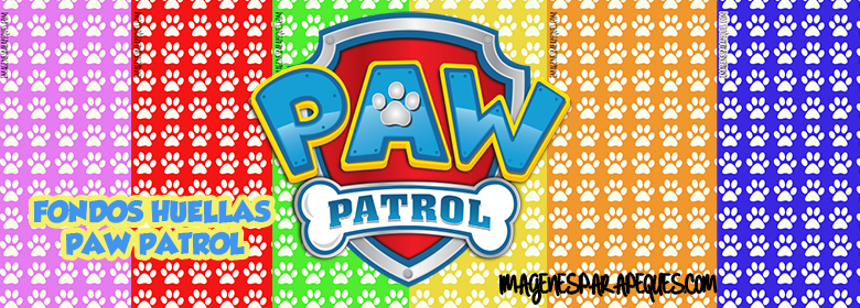 Fondo Perro Huellas: Paw Patrol Paper Digital Free